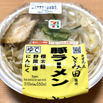 セブンイレブン - とみ田監修 豚ラーメン¥550(税込)(調理前)