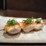 床島 - 料理写真:胸肉の上には梅と紫蘇♪
