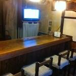 すみよし食堂 - カウンターとお座敷テーブル1卓しかないです。