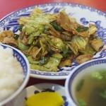 Manri - 回鍋肉+ライス(大)
