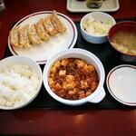 みよしの - 麻婆豆腐定食 ライス小