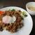 三日月 - 料理写真:豚ひき肉とごぼうのカレー