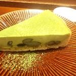 カフェ ソラーレ Tsumugi - セットデザート【濃厚抹茶のチーズケーキ¥600(税抜)】 お皿もステキです♪