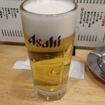 123997128 - 生ビール(アサヒスーパードライ) 398円 (税抜) ♪