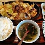 焼肉一心 - スタミナ定食全景