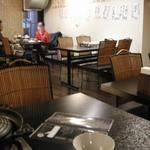 酒場 仁義×松尾ジンギスカン朋哉 - 店内。18時前に行かれたほうがよいです!