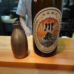 124004494 - 川亀 山廃純米をぬる燗で 202001