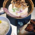 鶏soba 座銀  - 鶏soba (*´-`) ライス 鶏から
