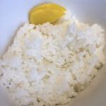 鶏soba 座銀  - ライス ( ´θ`)