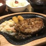 びっくりドンキー - 料理写真:ポテサラパケットステーキ+和セット