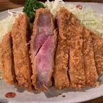 とんかつ 大倉 - 特選ロースカツ アップ