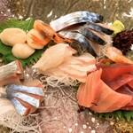 もりやま御食事処 - 料理写真:追加注文の刺身盛合わせ