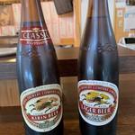 立呑 稼鶏酒場 - 瓶ビールは大瓶で何と480円