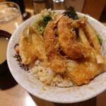 天丼ふじ - 天どん(800円)昔ながらの衣たっぷりこってりな危険な食べ物