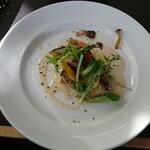 レストランアマル - ホウボウのポワレ 冬野菜ぞえ 野菜エキスたっぷりのクリームソース
