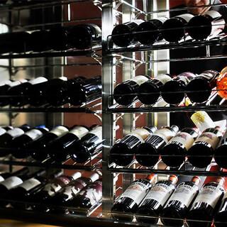 【ワインセラー】カリフォルニアワインを中心とした豊富な品揃え