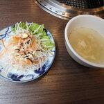 焼肉べこ六 - サラダ、スープ