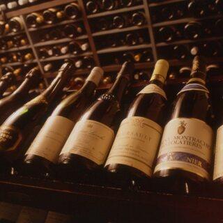 オーガニックワインは常時50種以上