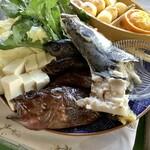お食事処 慶 - 【周防大島名物・みかん鍋/2人前】魚介類など