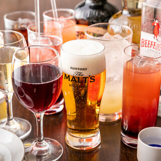 【ドリンク】多彩なアルコールメニューをラインナップ