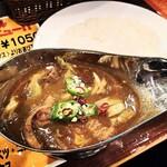 124046389 - もつ印度カレー1050円(税込)                       モツ入ってるかどうかの違いだけかなと思っていたのですが、キャベツやオクラも入っていて、以前食べたときとは印象がかなり違います!