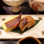 螢 - 鮭の塩焼きと鯵の味醂干し