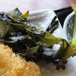 白菊 - ワカメがピリ辛でなかなか美味しい。
