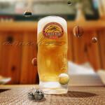 骨付丸亀鳥 - 生ビール