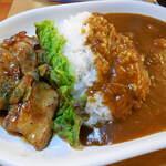 カレー専門店 パピー - ...「2.若鶏の辛味焼きとカレーライス(980円)」、安定して美味しい。1人女性も入っちゃうべき店!!