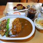 カレー専門店 パピー - ...「2.若鶏の辛味焼きとカレーライス(980円)」、マ・イ・ウ☆彡
