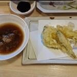 魚漁 - ワカサギ&シイタケ天ぷら