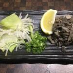 焼肉白李 - 生センマイ