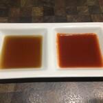 焼肉白李 - 生センマイのタレ