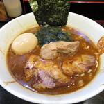 麺屋 優創 - 魚介味噌ラーメン 900円 味玉 100円