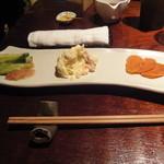 あげづき - 胡瓜と梅合え ポテトサラダ 漬物