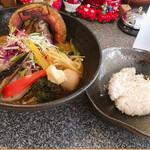 Spice&mill - 野菜たっぷりカレーとライスSサイズ