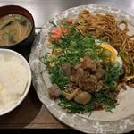 124092279 - ネギおこセット950円+ご飯と味噌汁100円税込