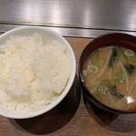 124092286 - ご飯と味噌汁