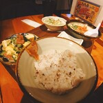 Okinawasakabaminsa - ゴーヤ&ソーキそばハーフセット@¥900