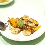 新世界菜館 - イカの豆鼓炒め