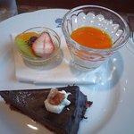 salon de Nagisa - デザートの盛り合わせ(パンナコッタ・ガトーショコラ・果物)