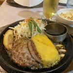 肉のはせ川 - はせ川ハンバーグ&チーズ(170g)830円