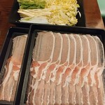 たなか屋 - 肉盛り合わせ 野菜盛り合わせ
