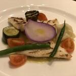 サバティーニ・ディ・フィレンツェ - お魚のグリル ポロ葱のピューレソース