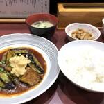 味の正福 - なすみそ定食(880円:税込)