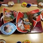 海鮮問屋 博多 - お刺身類のアップです。