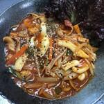 韓味屋 - 辛イカ炒め