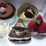 デザート ラボ ショコラ - 今回、購入したケーキ。こぼれてない♪笑