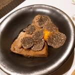 124134748 - 黒毛和牛ロースすき焼き仕立て ~ 黒トリュフ.卵黄