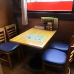 ルンビニカレーハウス - わたしが利用した 窓辺の 4人用テーブル席。  2020.01.23